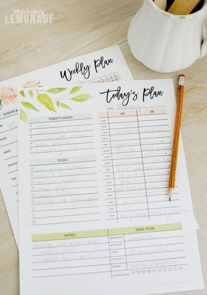 Get Your Free 2018 Printable Planner (With Daily, Weekly intended for Daily Planner Pages Printable