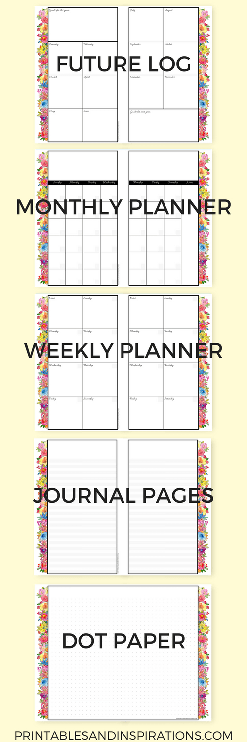 Get Your Free Printable 2018 Planner (Mini Size) Here regarding How To Make Planner Printables Graphics
