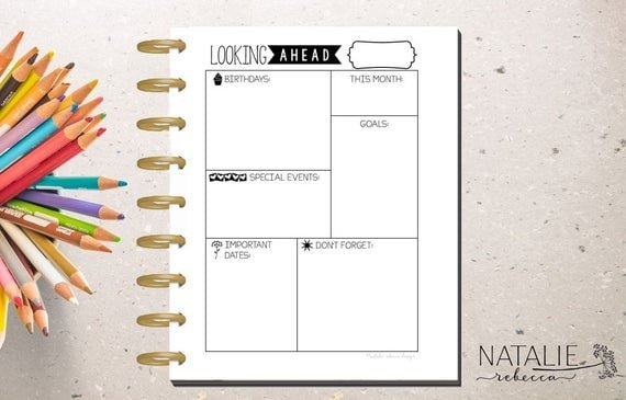 Happy Planner Monthly Dashboard Happy Planner Printable inside Free Printable Month Banner Happy Planner Graphics
