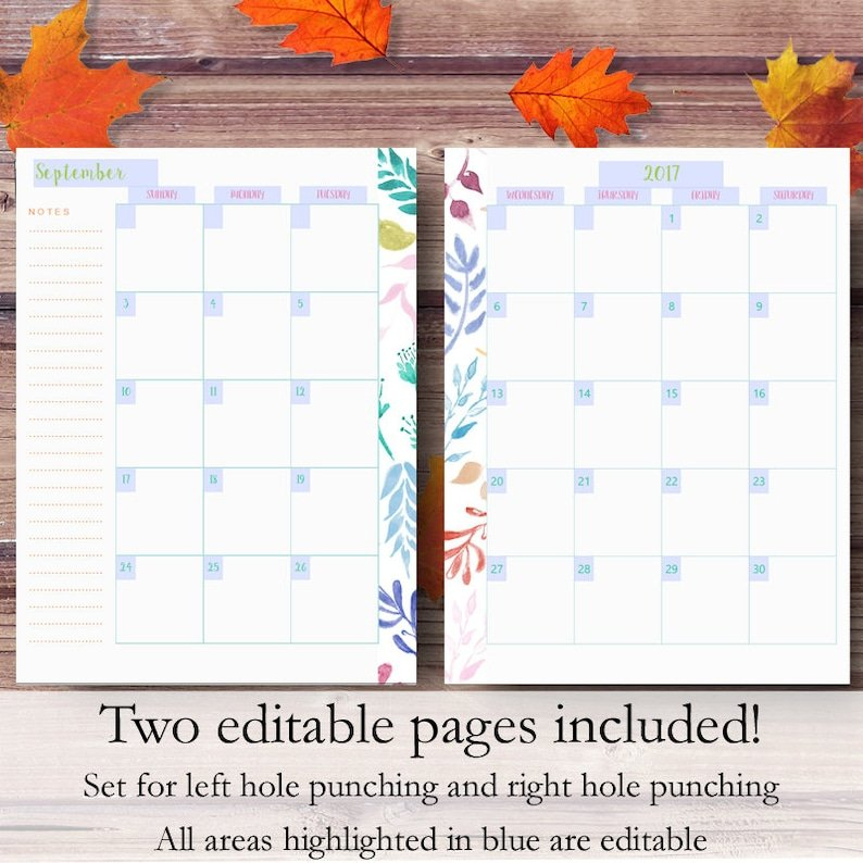 Happy Planner Monthly Inserts Printable Happy Planner | Etsy for Happy Planner Monthly Printable