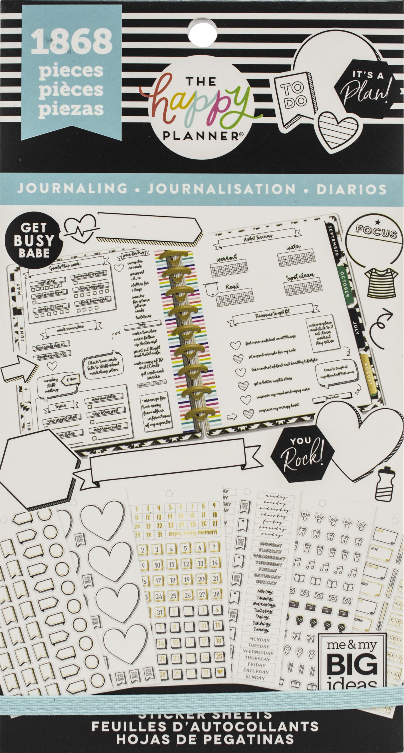 Happy Planner Sticker Value Pack-Happy Journal Functional throughout The Happy Planner Journaling Stickers