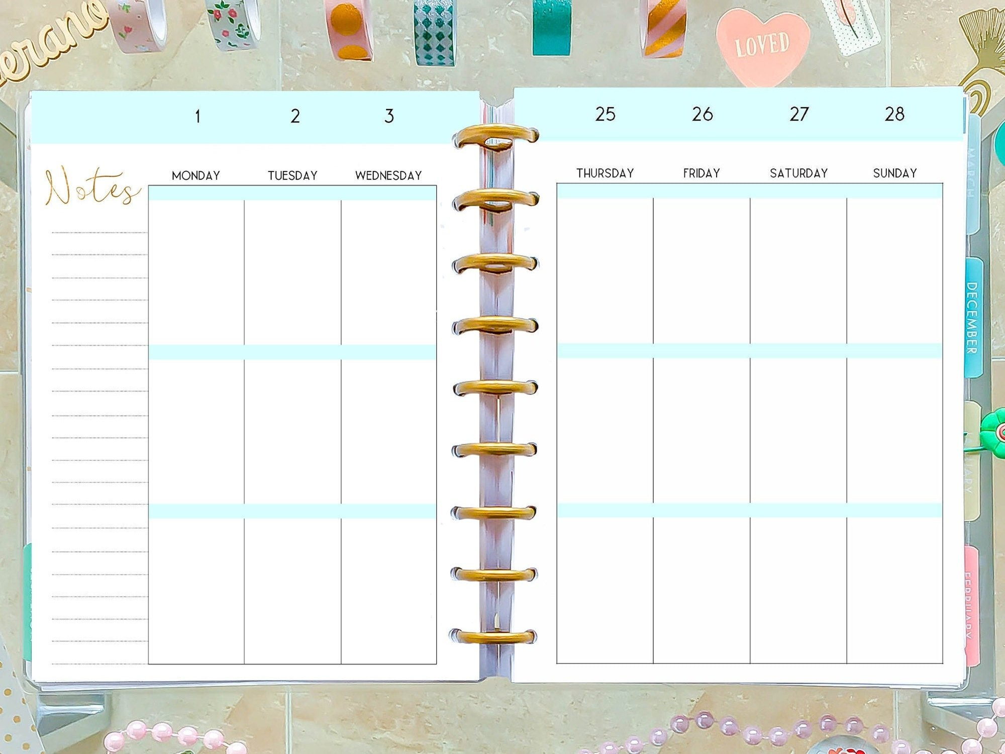 Happy Planner Template Weekly Planner Pages, Weekly Layout with regard to Happy Planner Monthly Printable Image