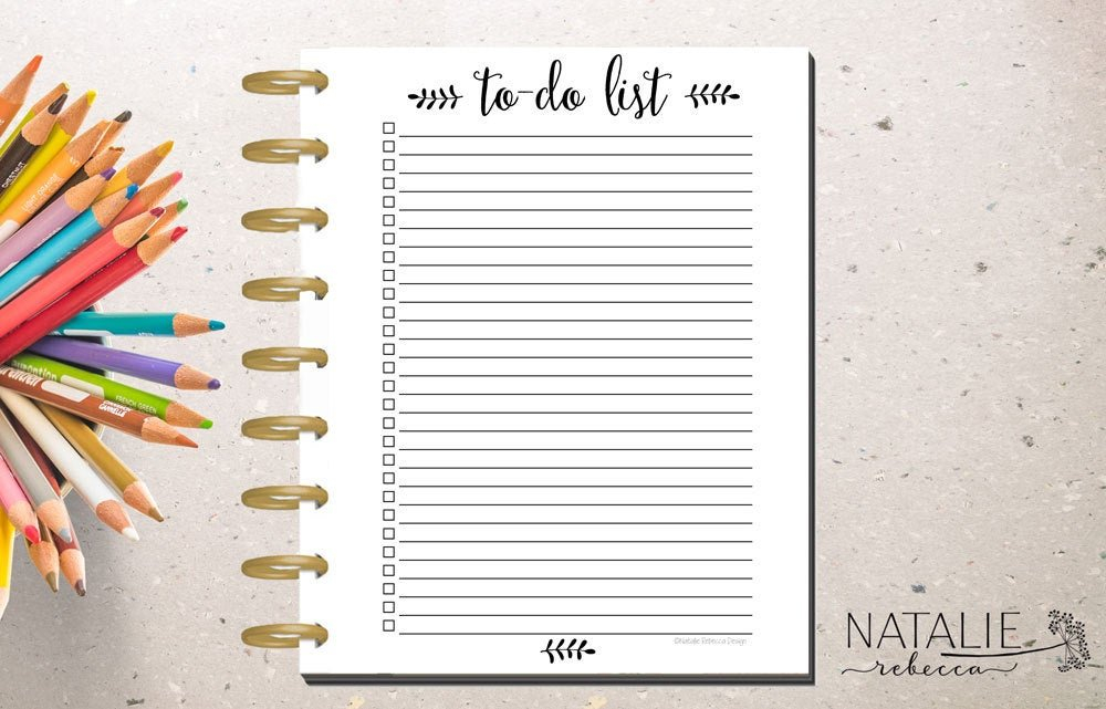 Happy Planner To Do List Happy Planner Printable Insert inside How To Make A Printable Planner Photo