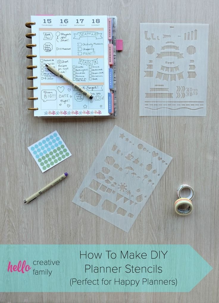 How To Make Diy Planner Stencils (Perfect For Happy inside How To Design And Print A Planner