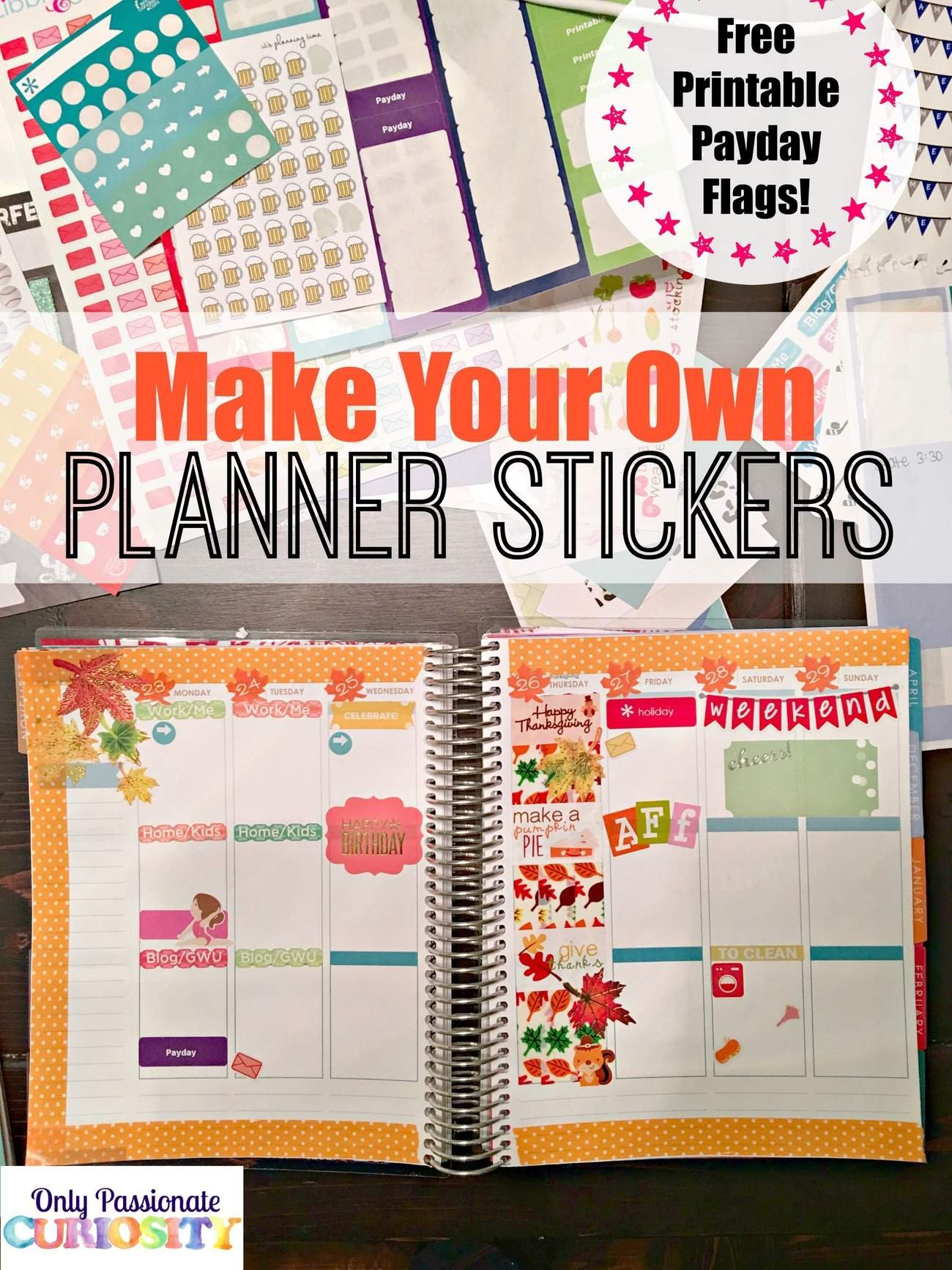 How To Make Planner Stickers With A Cricut - Only with How To Make A Printable Planner Photo