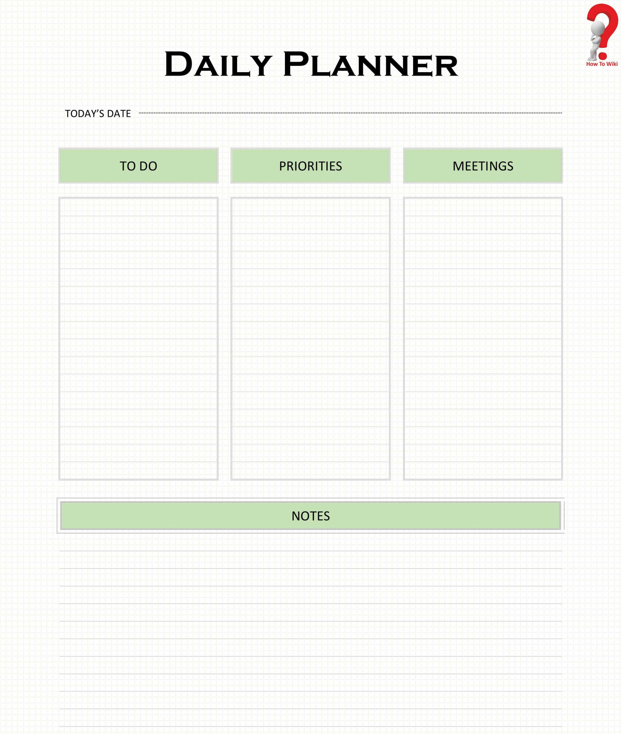 How To Use Printable Daily Planner Template [Pdf, Excel for Free Printable Daily Planner Pdf Graphics