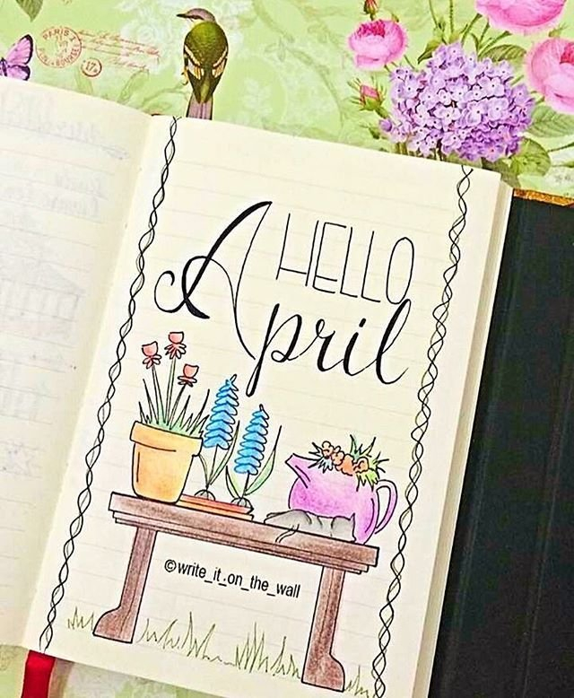 Image Result For April Bullet Journal   April Bullet with regard to Printable Bullet Journal April Cover Page