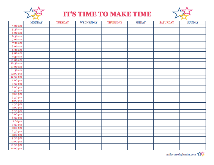 It'S Time To Make Time With Time Blocking | Time Blocking within How To Make A Printable Planner