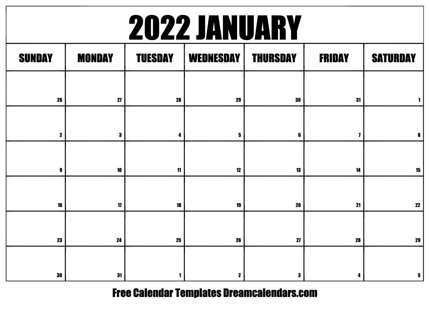 January 2022 Calendar | Free Blank Printable Templates inside Printable Calendar January 2022 Floral