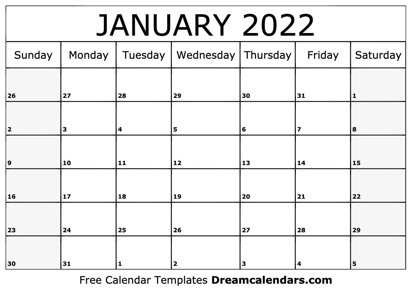 January 2022 Calendar | Free Blank Printable Templates pertaining to Printable Calendar January 2022 Floral Image
