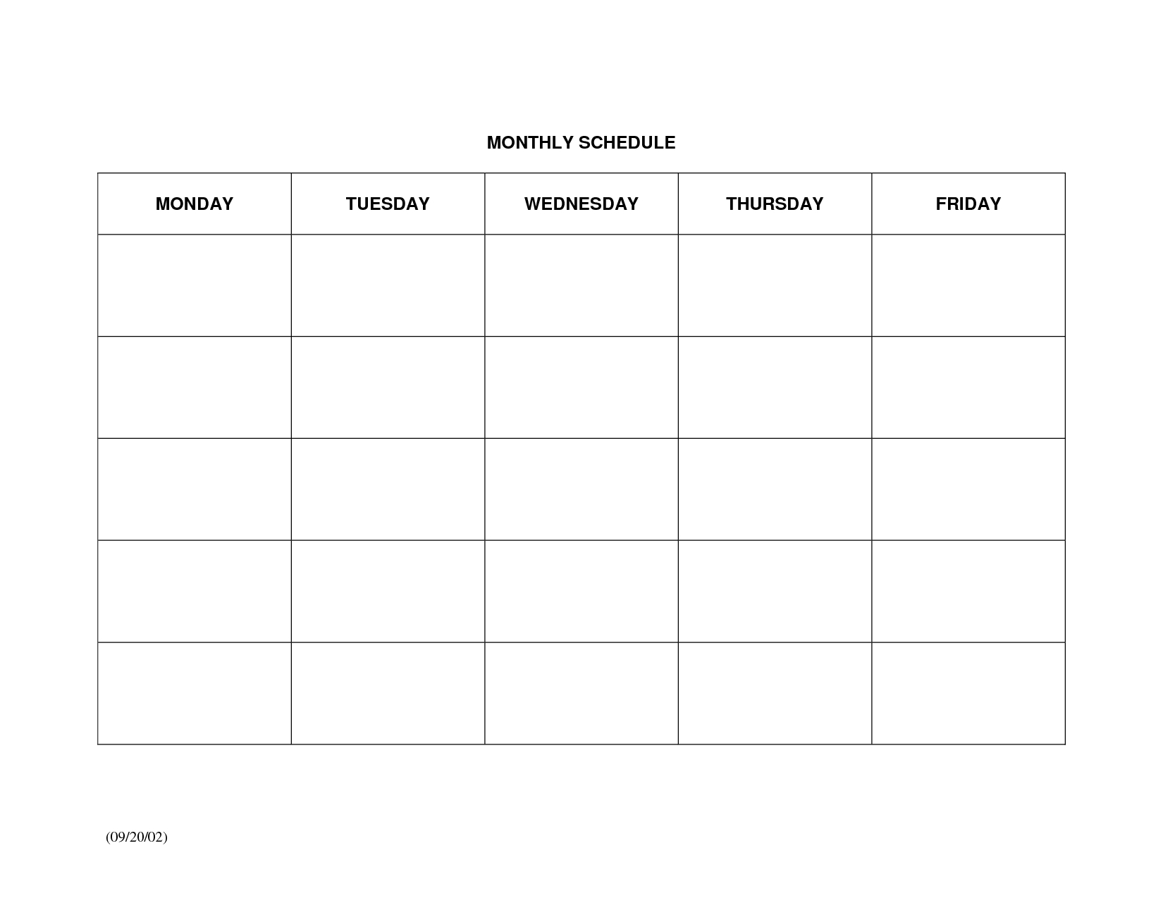Large Blank Monthly Calendar Template - Calendar with regard to Blank Month Planner Template Graphics