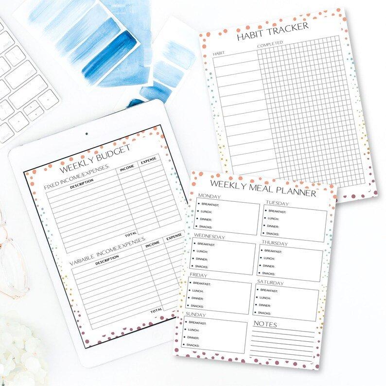 Life Planner Life Planner Printable Life Planner Inserts regarding Planner Insert Printables Book