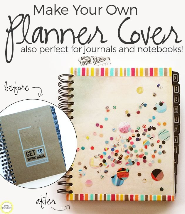 Make Your Own Notebook Cover Or Planner Cover | Planner with Where Can I Print My Own Planner