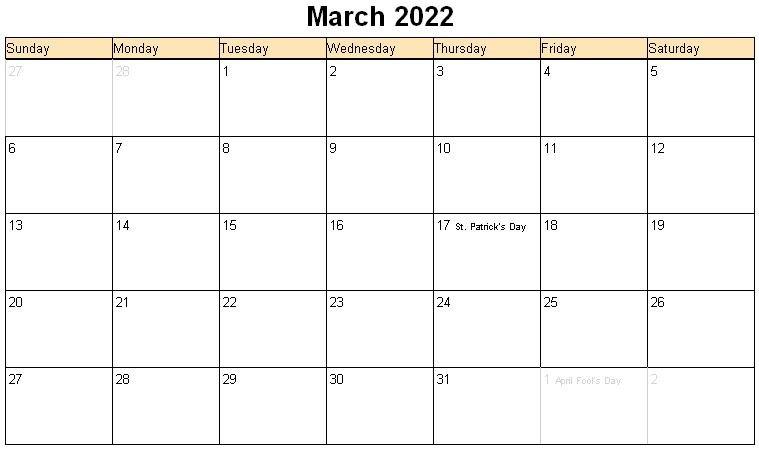 March 2022 Calendar | Calvert Giving within 2022 March 2 Page Printable Calendar