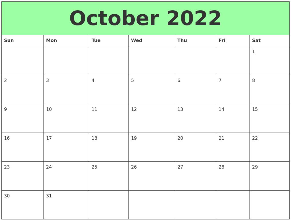 March 2022 Calendar Template with regard to October 2022 Planner Calendar