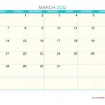 2022 March 2 Page Printable Calendar Image