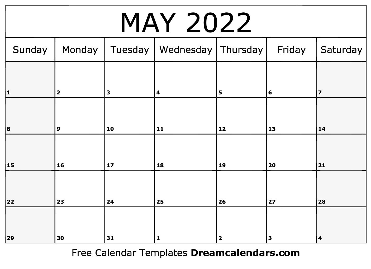 May 2022 Calendar | Free Blank Printable Templates pertaining to 2022 2022 Monthly Planner Free Printable Graphics