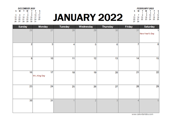 Monthly 2022 Excel Calendar Planner - Free Printable Templates throughout Printable Day Planner 2022