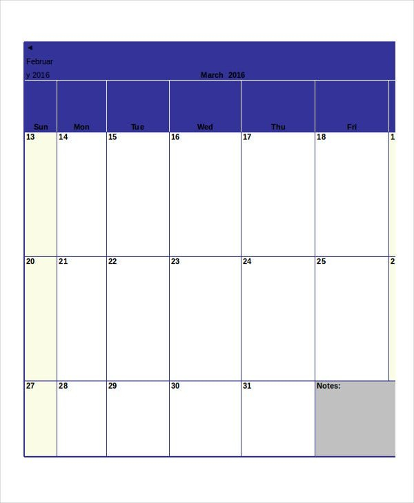 Monthly Calendar - 19+ Free Word, Pdf Documents Download with regard to Blank Month Planner Template