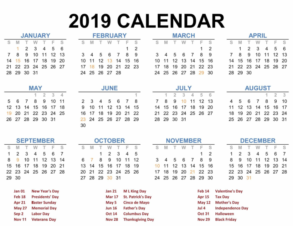 Online Year Calendar 2019 - Google Search | Printable intended for Free Printable Planner Stickers 2022 Graphics