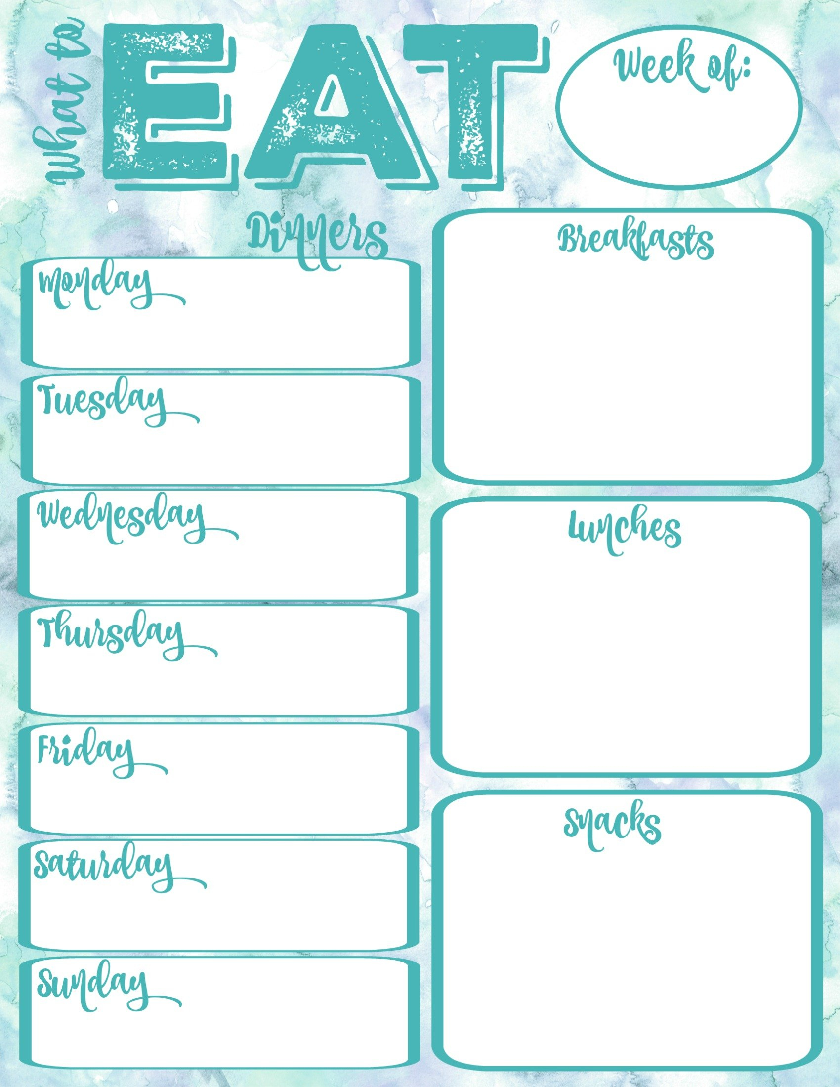 Pantry Makeover: Free Printable Weekly Meal Planner And Shopping List Planner | The Happy Housie throughout Free Meal Planner Printable