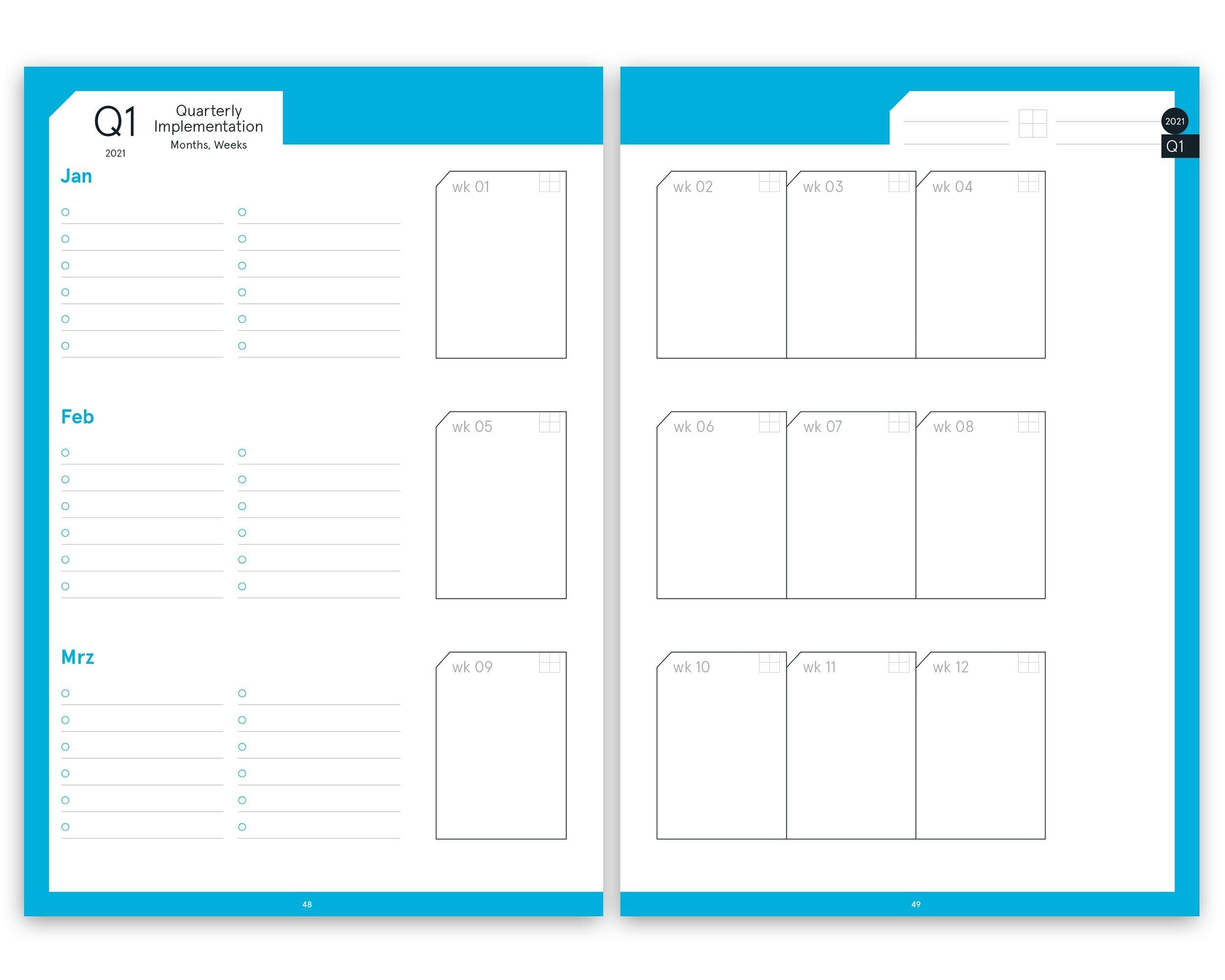 Pdf Printversion | Digital Planner | Business 2021 with regard to Free Digital Planner Pdf Dowload Graphics