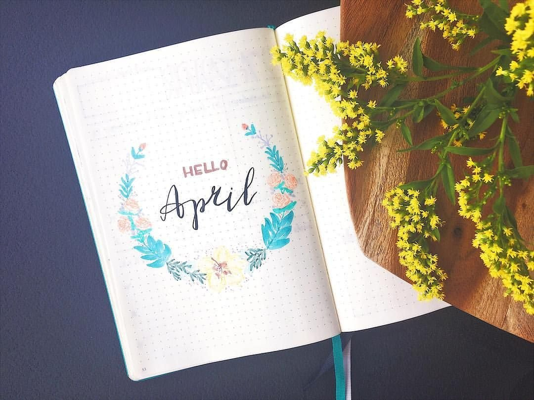 Pin On Bujo. throughout April Bullet Journal Spread Ideas Graphics