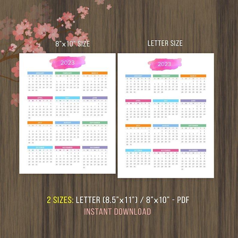 Planner Printable Calendar 2022 2023 Desktop Calendar Wall pertaining to 2022 Lifestyle Planner Calendar