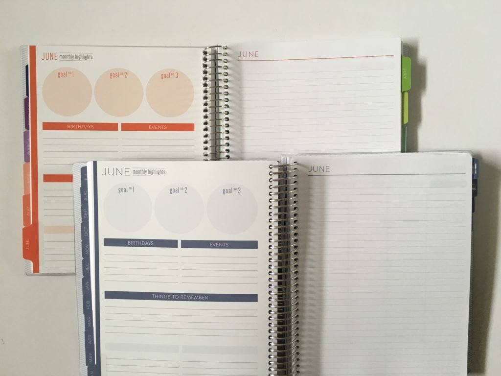 Plum Paper Planner Comparison: Colorful Versus Neutral intended for Planner Paper For Students Image