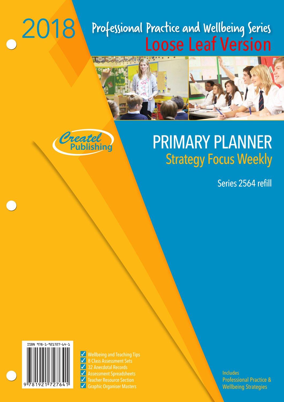 Primary Focus Weekly Planner 2018 - Loose Leaf - Createl throughout Weekly Planner For Teachers Image