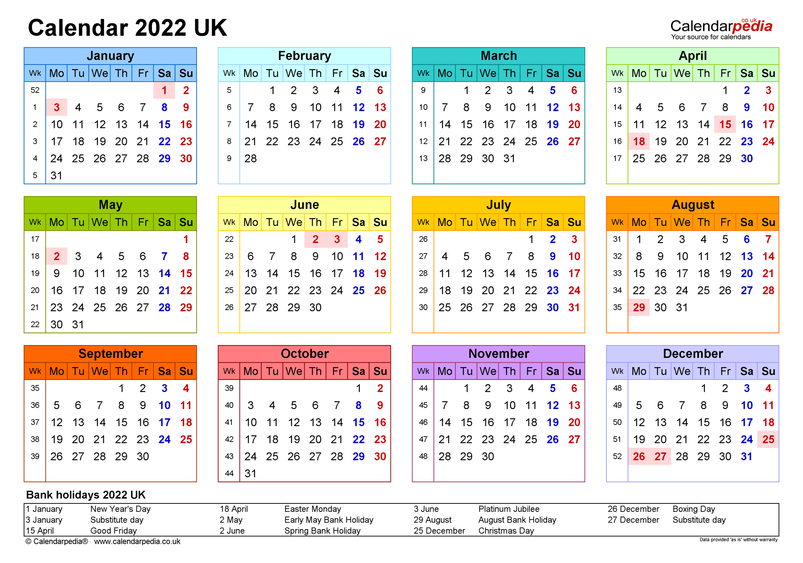 Printable Calendar 2022 / Free Printable 2022 Calendar inside Free Monthly Planner 2022