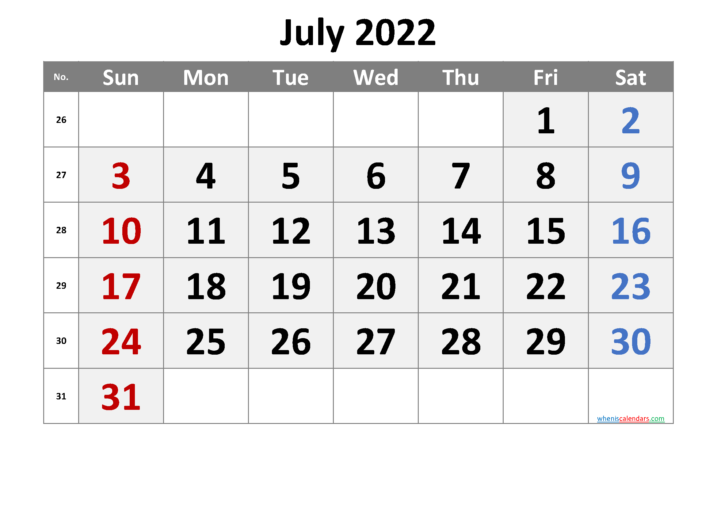 Printable Calendar July 2022 - 6 Templates In 2020 inside Printable 2022 July Calendar