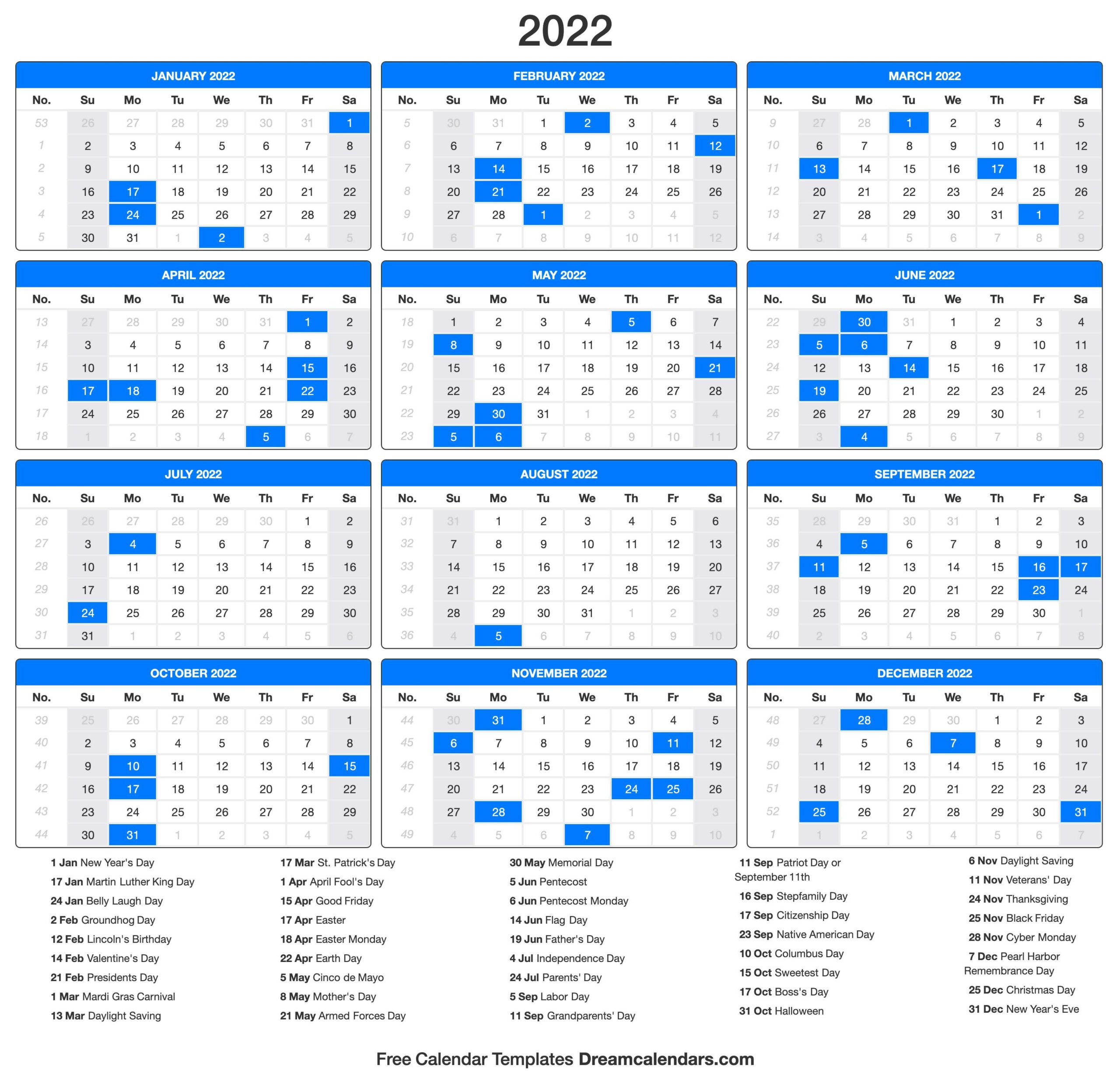 Printable Calendar Yearly 2022 | Free Letter Templates inside Yearly Planner 2022 Printable Free Photo