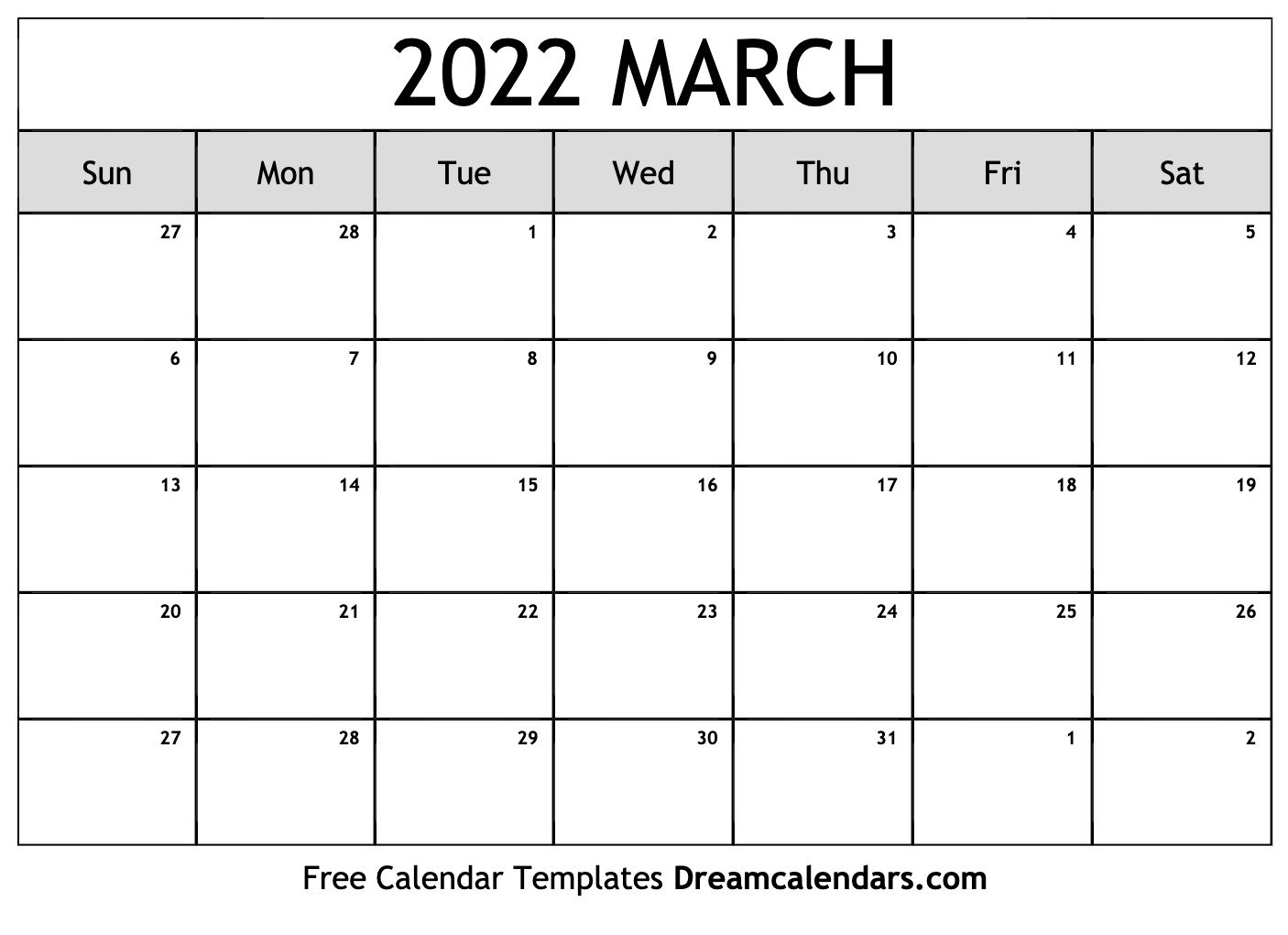 Printable March 2022 Calendar with January 2022 Free Month At A Glance Planner.pdf