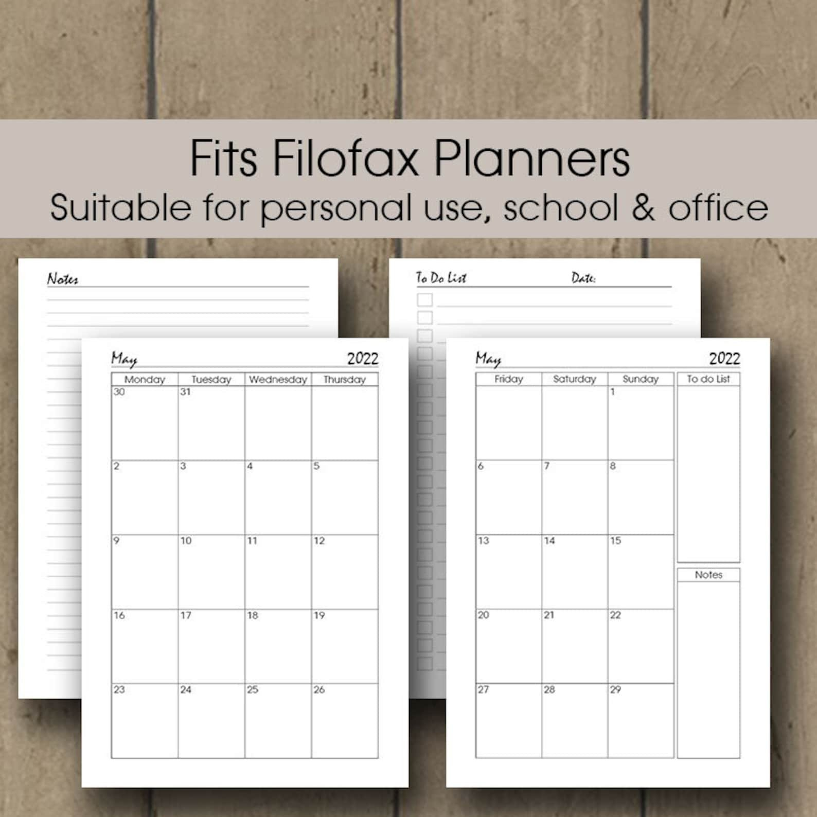 Printable Planner 2022 Daily Weekly Planner Insert 2022 A4 throughout Printable Daily Planner 2022 Image