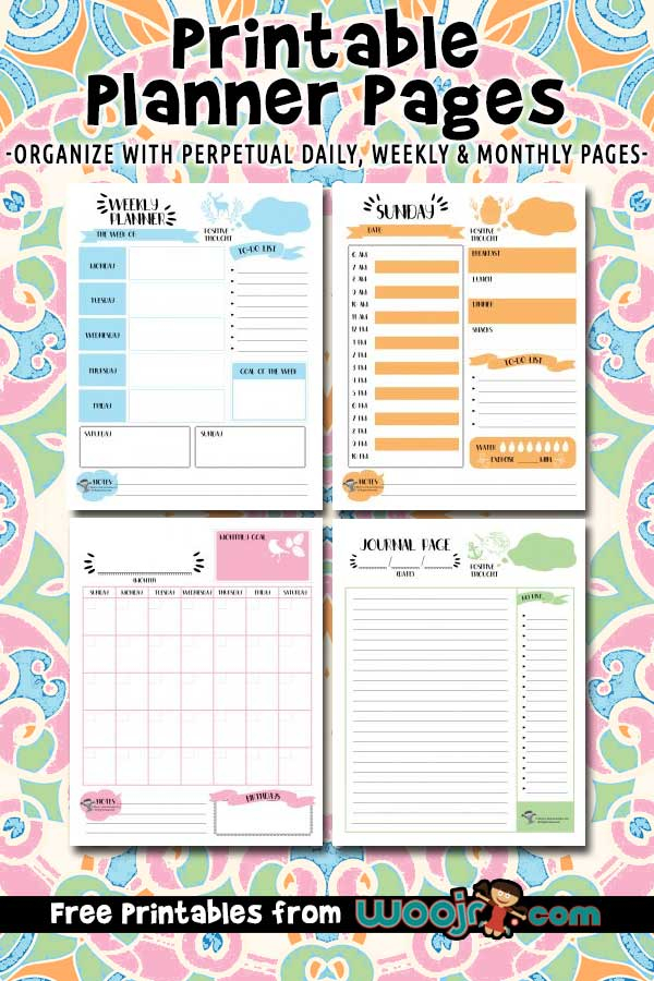 Printable Planner Pages - Daily, Weekly & Monthly Layouts pertaining to Free Printable Month Banner Happy Planner Graphics