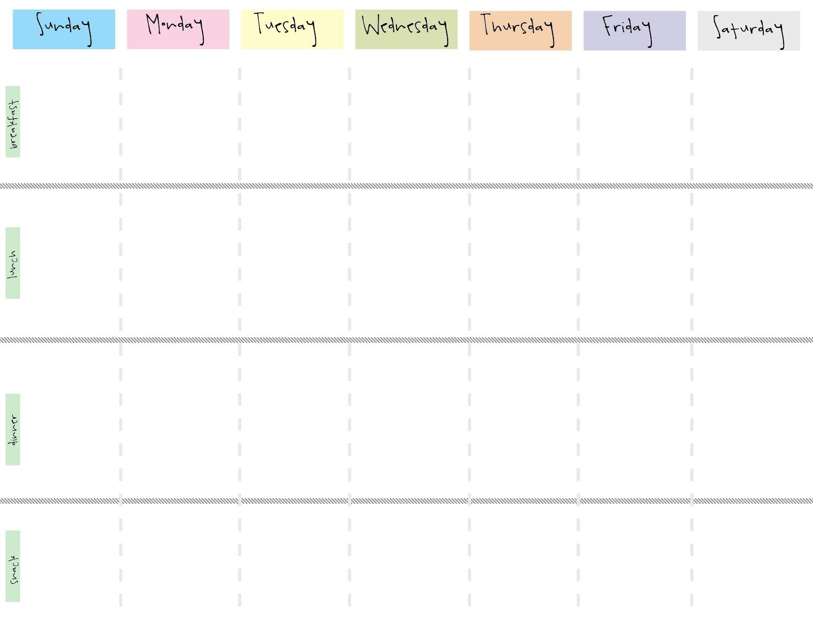 Printable Weekly Calendar With 15 Minute Time Slots inside Blank Weekly Planner Template Graphics