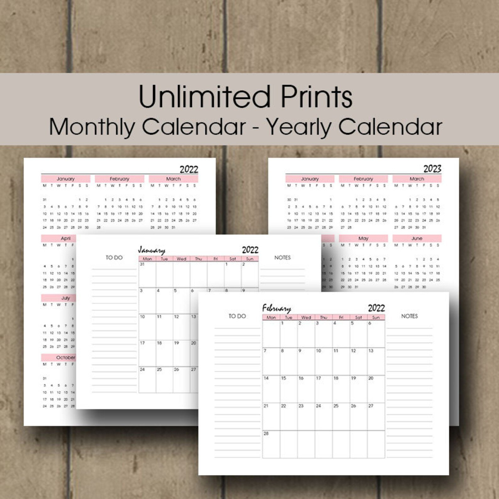 Printable Weekly Planner 2022 A4 A5 Letter Half Size | Etsy for Printable Daily Planner 2022