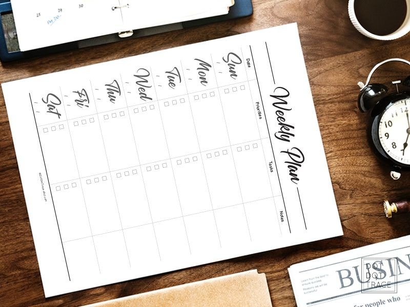 Printable Weekly Planner Sunday Start Daily Planner 7 Day pertaining to Weekly Planners That Start On Sunday