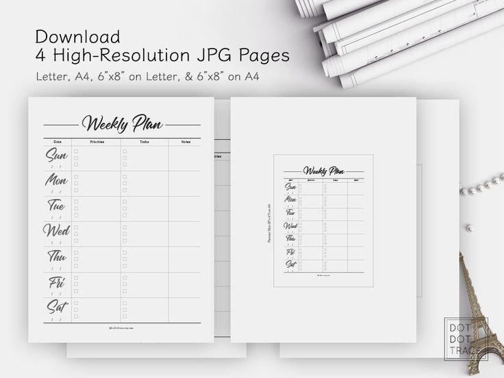 Printable Weekly Planner Sunday Start Daily Planner 7 Day regarding Weekly Planners That Start On Sunday Image