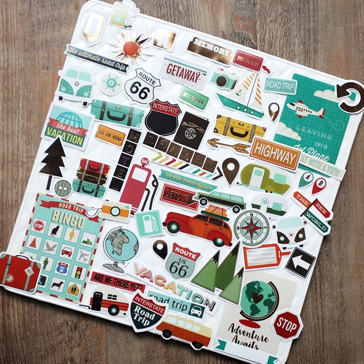 Vuawrtg Travel Paper Die Cuts Stickers For Scrapbooking with The Happy Planner Journaling Stickers Image