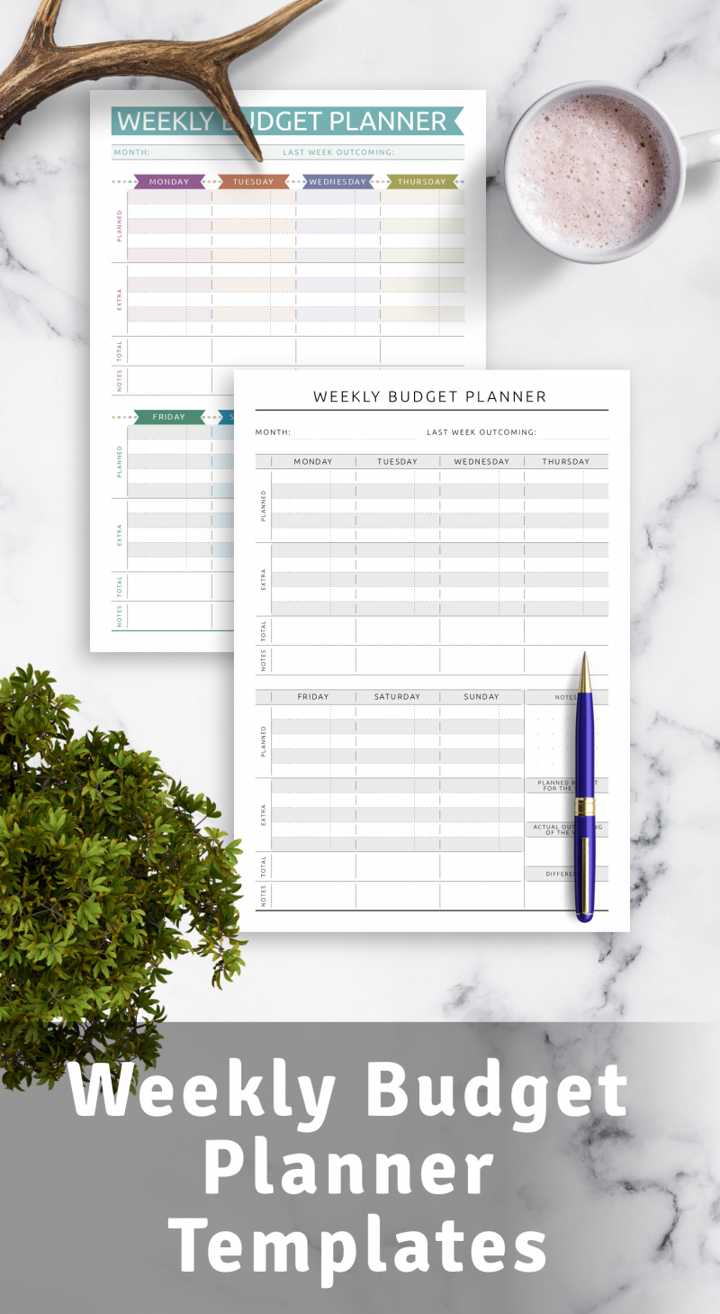 Weekly Budget Planner Templates - Download Pdf in Budget Planner Pdf Download Free Photo