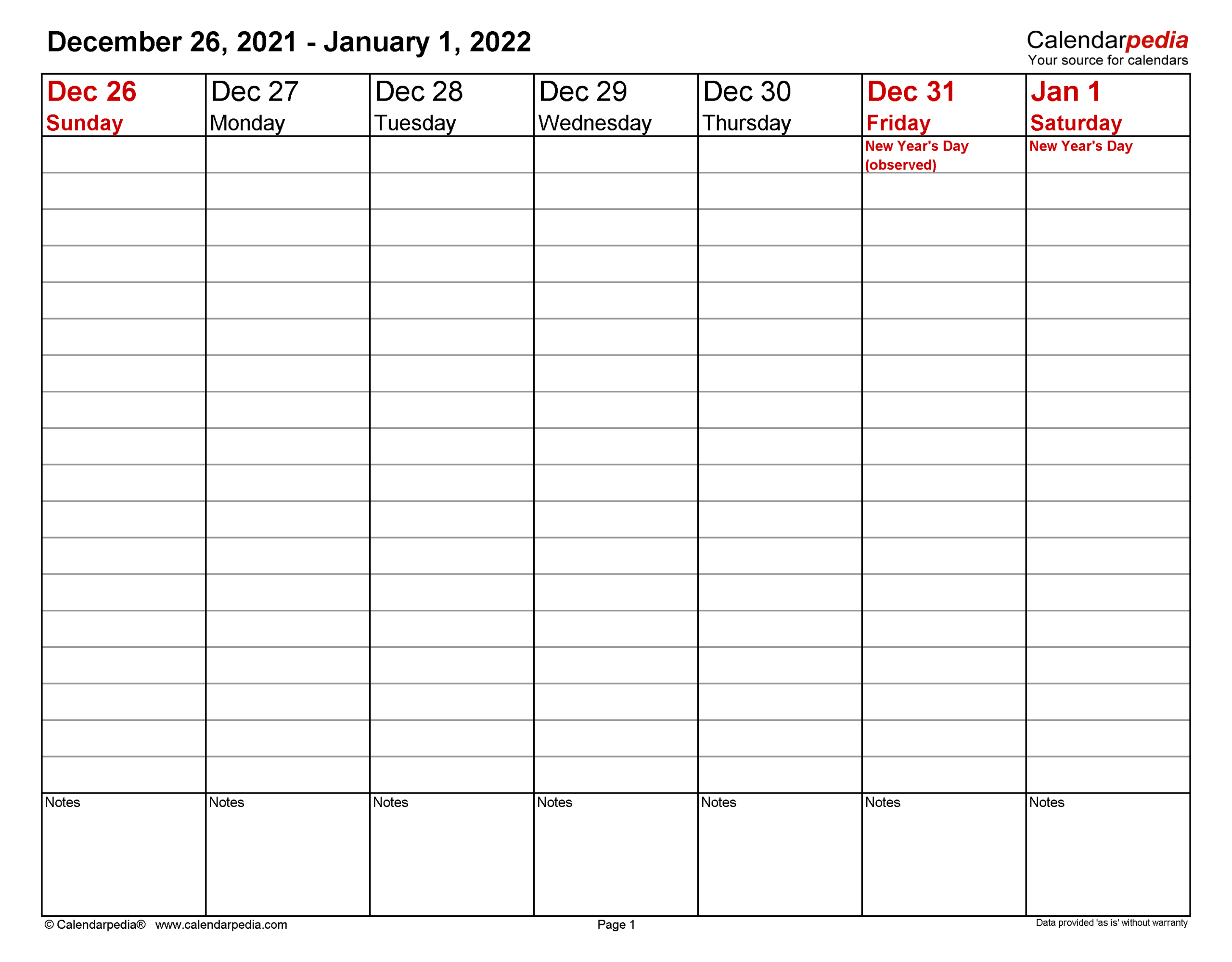 Weekly Calendars 2022 For Excel - 12 Free Printable Templates inside Free Green Printable Daily Planner 2022 Pdf Image