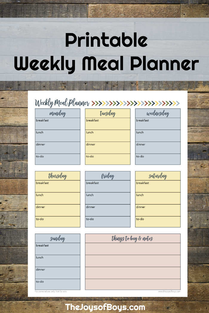 Weekly Meal Planner Printable For Busy Families | Weekly Meal Planner, Weekly Meal Planner with Free Meal Planner Printable