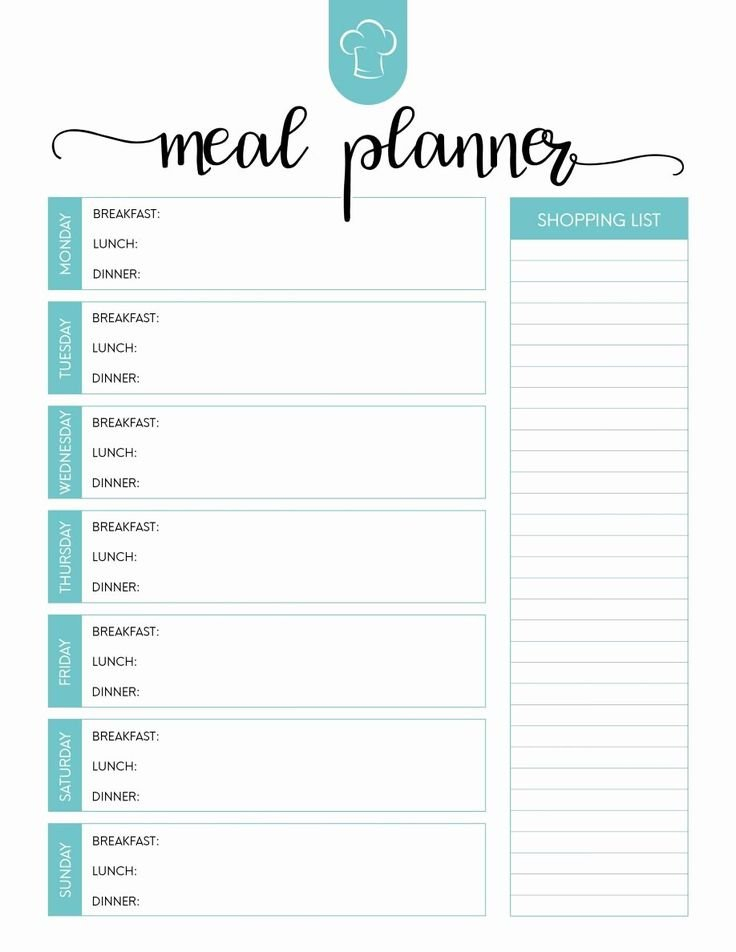 Weekly Meal Planner Template Word Inspirational Printable inside Weekly Supper Planner Template Graphics