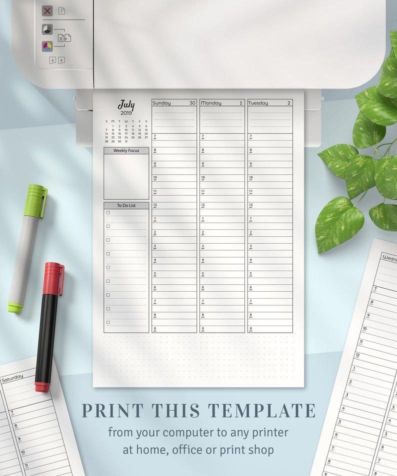 Weekly Planner 2021 2022, Printable Weekly Agenda Template in 2022 Daily Planner Printable Photo