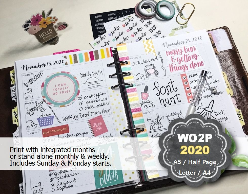 Weekly Planner Printable 2022 Weekly Planner Inserts intended for 2022 Planner Printable A5 Diy Photo