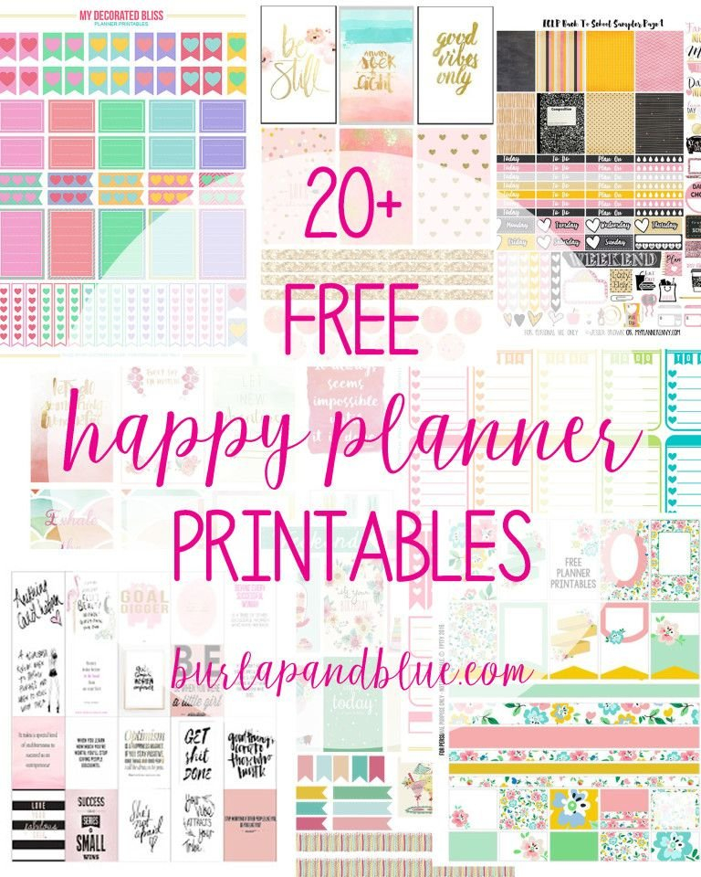 Weekly Planner Printables {Free For Your Happy Planner in Happy Planner Monthly Printable