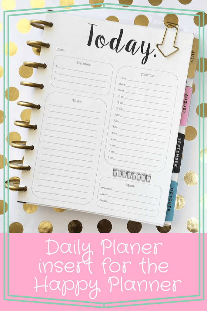 Weekly Planner Printables {Free For Your Happy Planner} inside Free Printable Weekly Planner Graphics