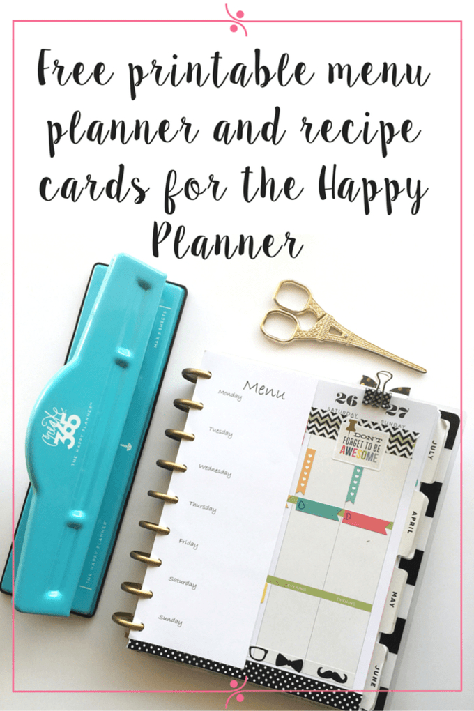 Weekly Planner Printables {Free For Your Happy Planner} intended for Free Printable Weekly Planner